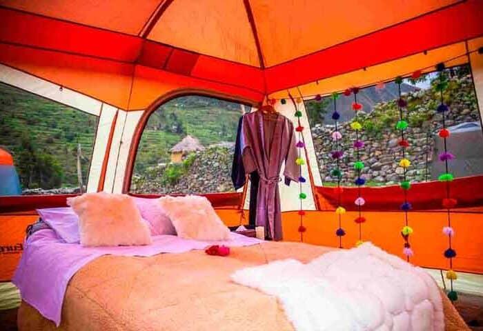 luxury camping inca trail to machu picchu