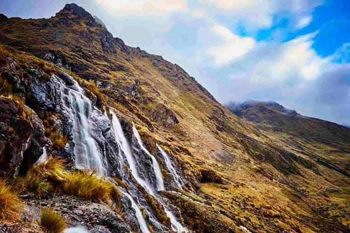 waterfall-lares-mountain-inca-trail